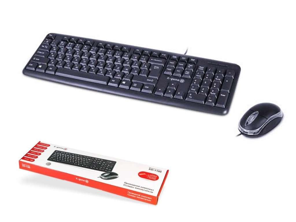 Клавиатура + Мышь X-Game XD-1100OUB проводные (комплект)