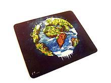 Коврик для мыши pad V-T, World , ткань на резиновой основе