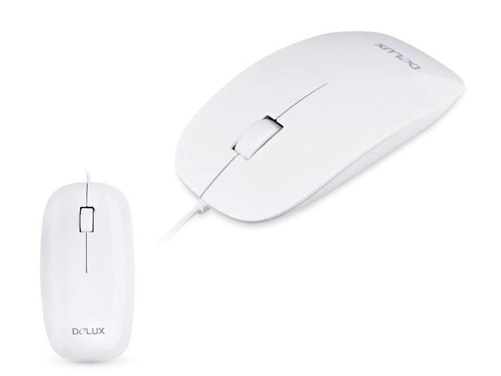 Мышь Delux DLM-111OUW белая USB
