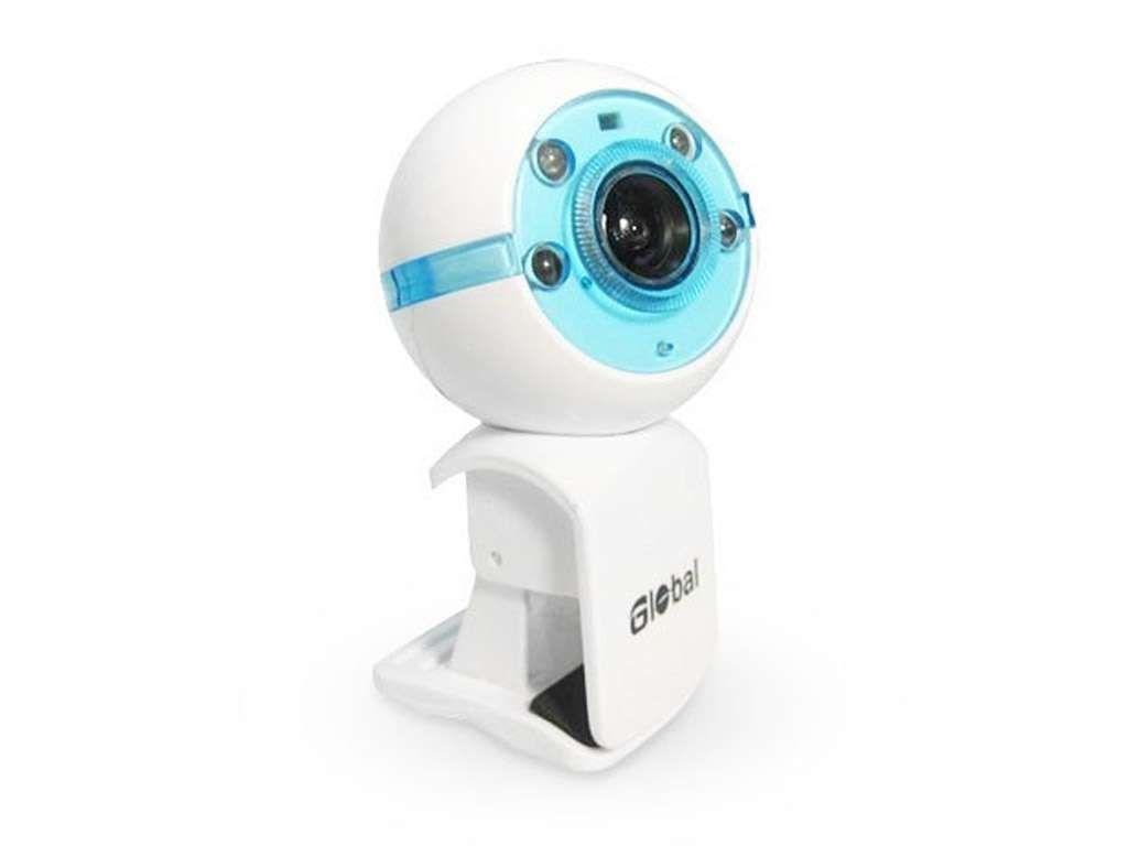 Веб-Камера Global A-25  1,3 Mpx, бело-синяя