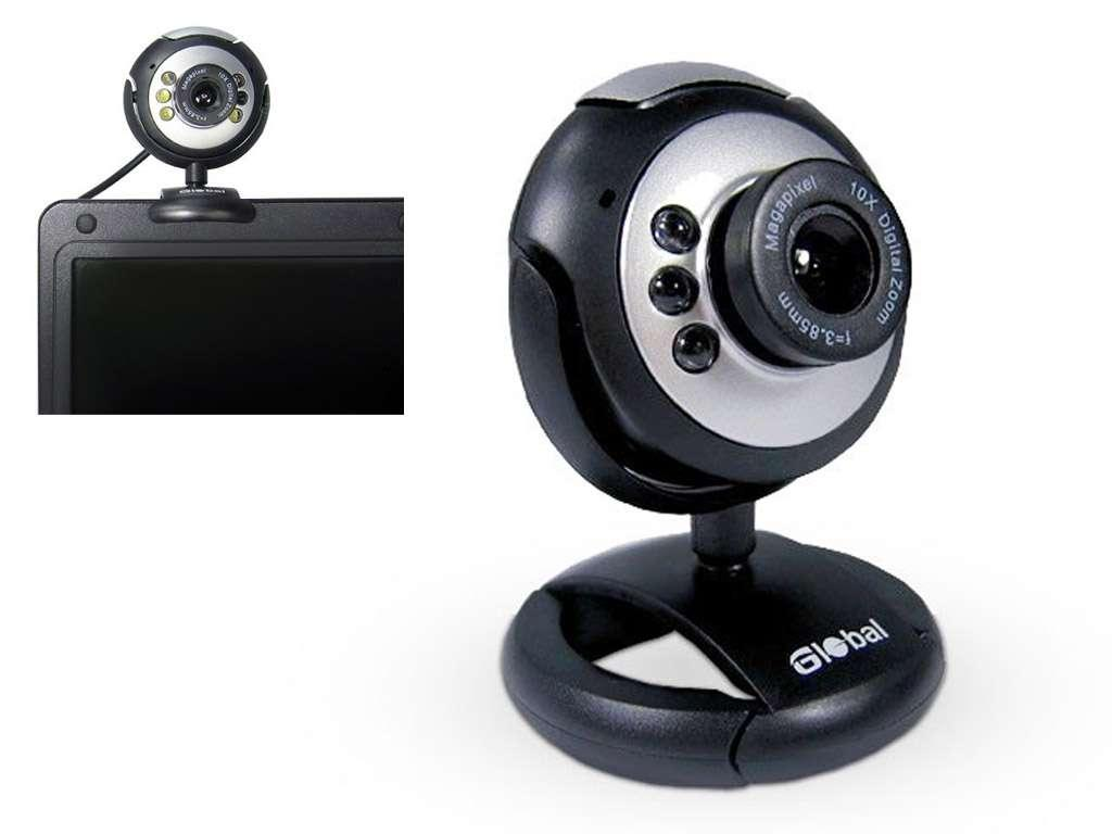 Веб-Камера Global A-9 1.3 Mpx, серебристо-чёрная