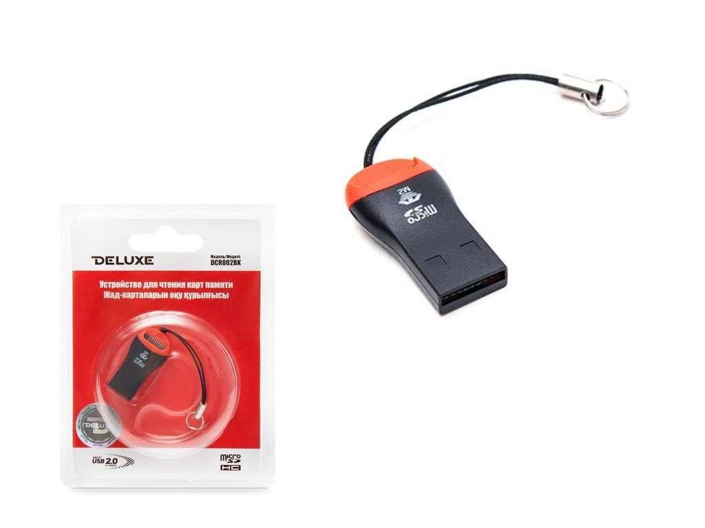 Картридер Deluxe DCR002BK MicroSD/MicroSDHC