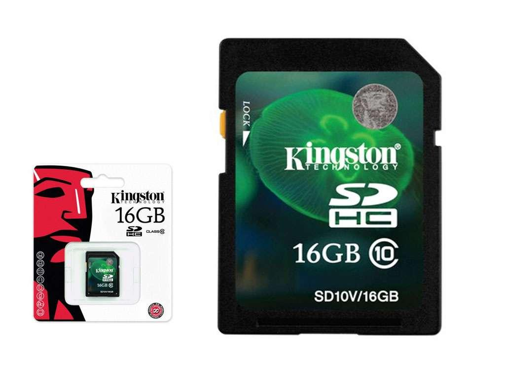 Карта памяти Kingston SD 16GB Class 10