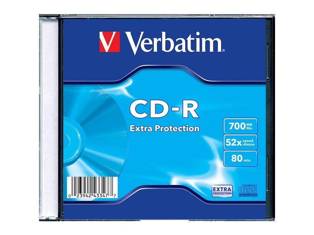Диск CD-R Verbatim 700MB/52x (в пластиковой коробочке)