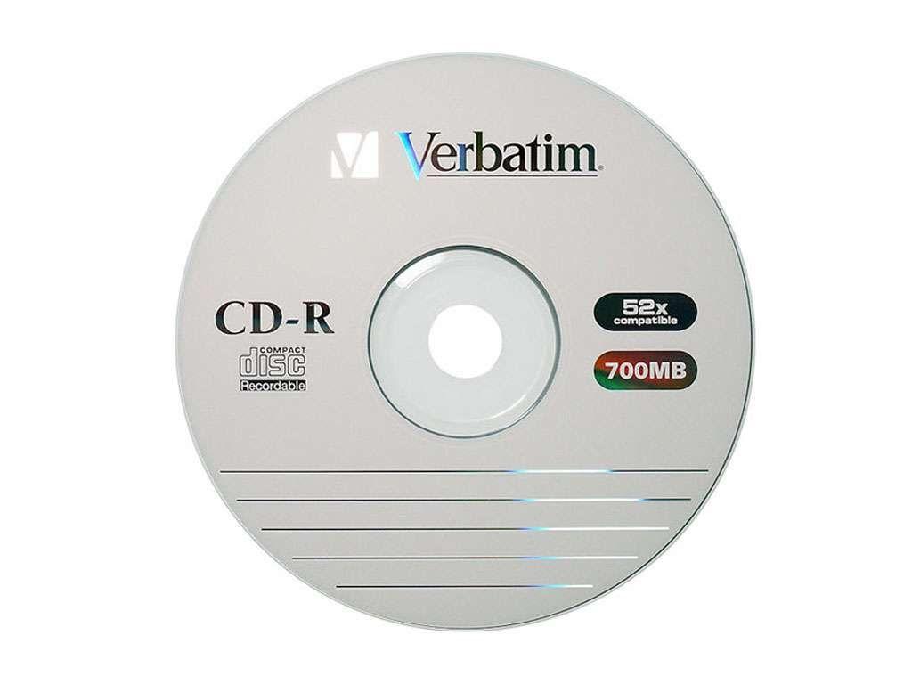 Диск CD-R Verbatim 700МВ/52х (без упаковки)