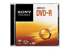 Диск DVD-R SONY 4.7 GB slim-box (в пластиковой коробочке)