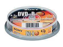Диск DVD-R SONY 4.7 GB (10 штук в упаковке)