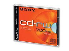 Диск CD-RW SONY 700mb slim-box (в пластиковой коробочке)