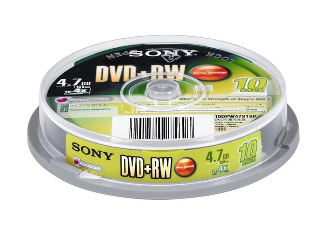 Диск DVD-RW SONY 4.7 GB (10 штук в упаковке)