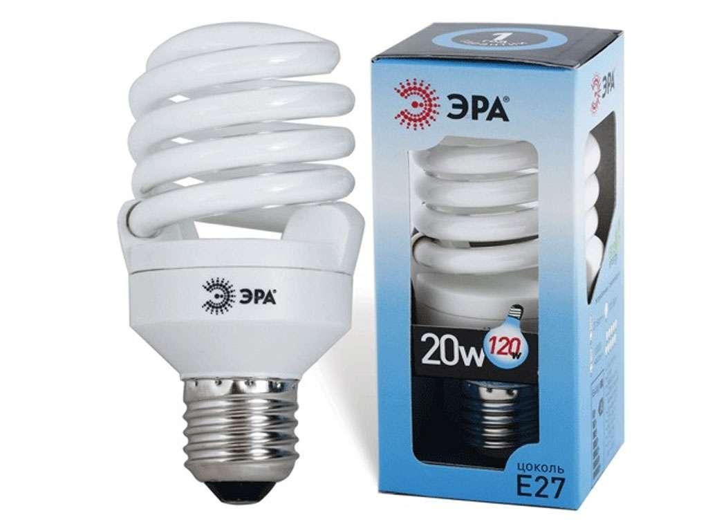Лампа энергосберегающая ЭРА, 20 Вт (100 Вт) дневной свет