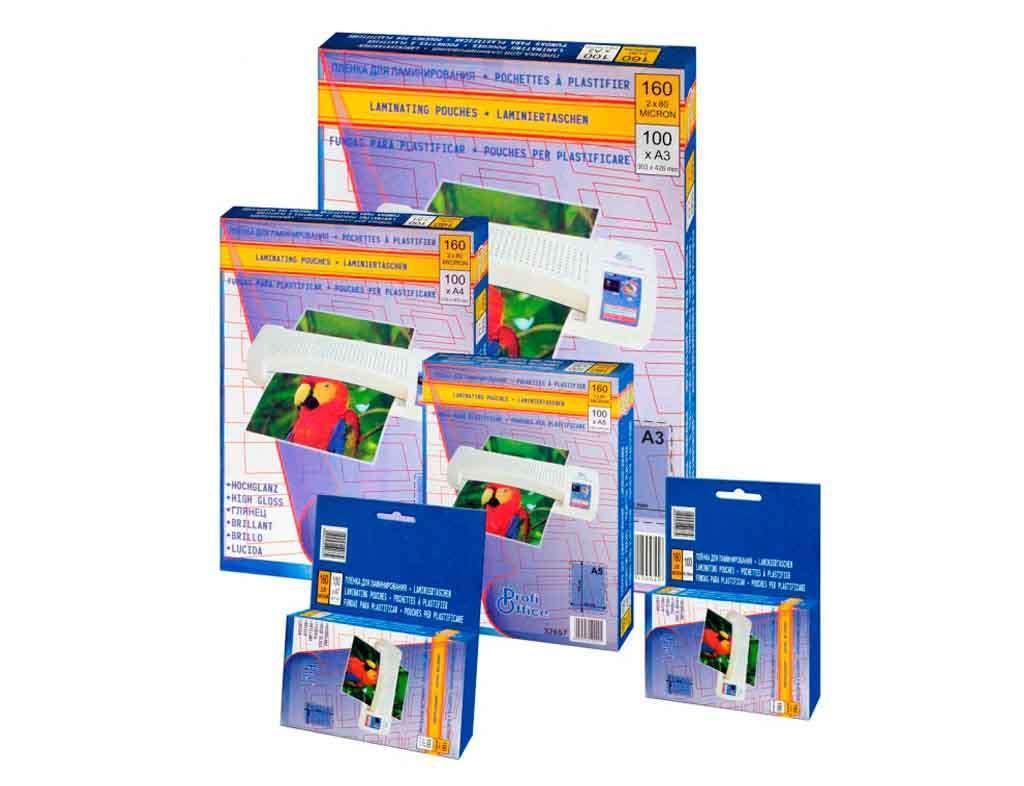 Пленка для ламинирования ProfiOffice А6, глянец, 100 мкм, 100 штук в упаковке