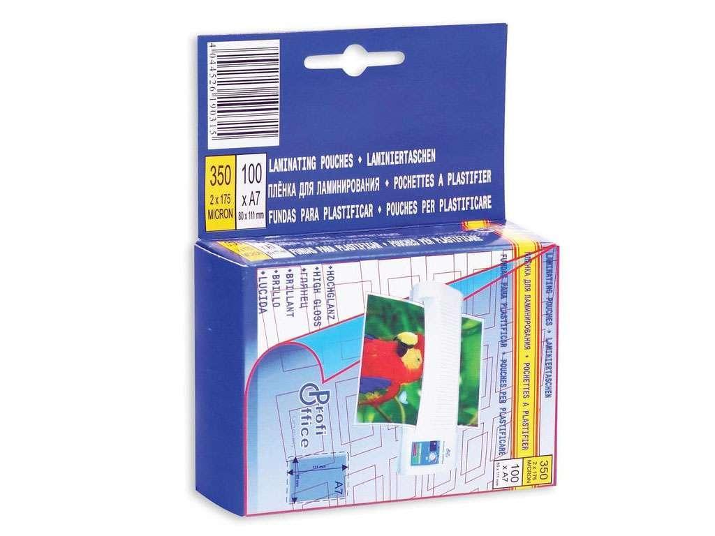 Пленка для ламинирования ProfiOffice А7, глянец, 100 мкм, 100 штук в упаковке