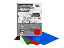 Обложка для переплета Profi Office, А4 картон глянец, 250 гр, красная