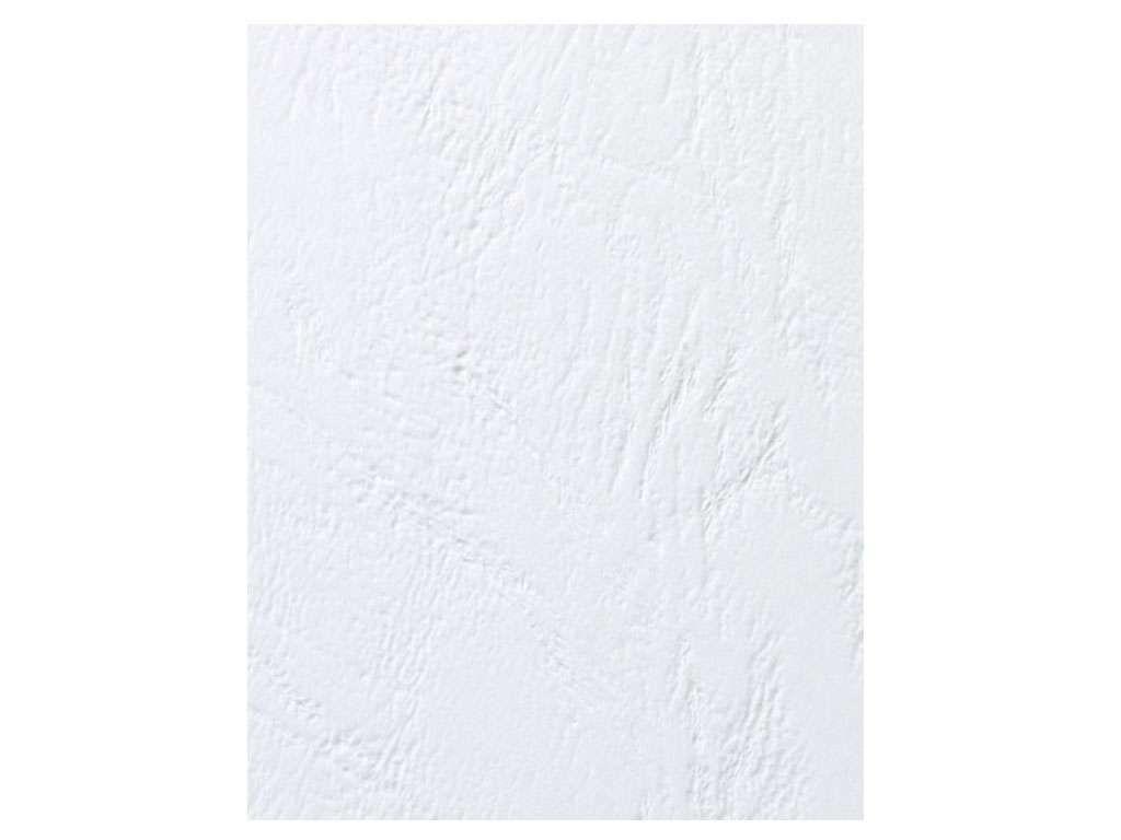 Обложка для переплета iBind, А4 картон под кожу, 230 гр, белая