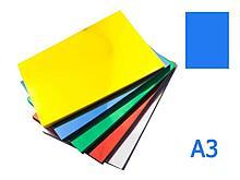 Обложка для переплета iBind, А3 пластиковая, 150 мкм, прозрачно-синяя