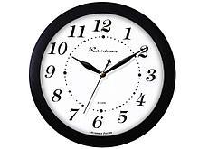 """Часы настенные Камелия """"Классика в черном"""", круглые, 29х29х3,5, черная рамка"""