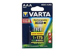 Аккумулятор Varta ААА (мизинчиковые) 800 mAh (2 шт/упак)