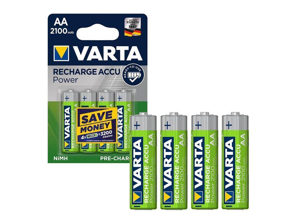 Аккумулятор Varta АА (пальчиковые) 2100 mAh (4 шт/упак)