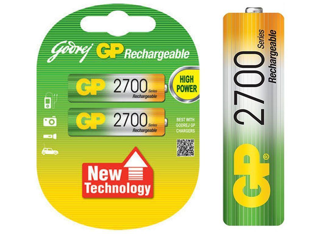 Аккумулятор GP АА (пальчиковые) 2700 mAh (2 шт/упак)