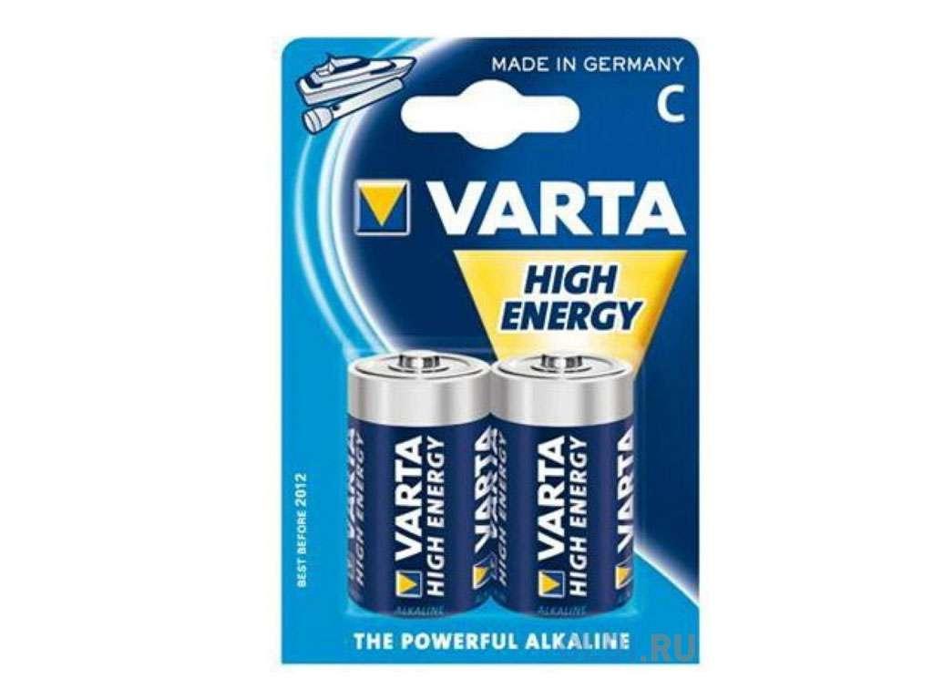"""Батарейки VARTA """"High Energy"""" С (2 шт/упак)"""
