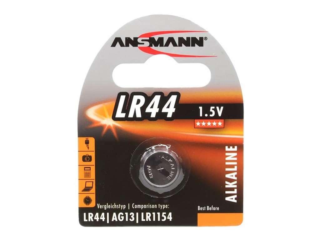 Батарейка ANSMAN щелочная LR44 1,5V (1шт/упак)
