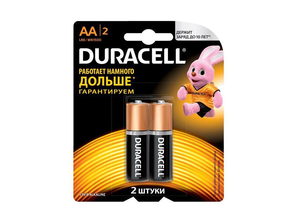 Батарейки DURACELL LR06 BASIC AA (2 шт/бл)