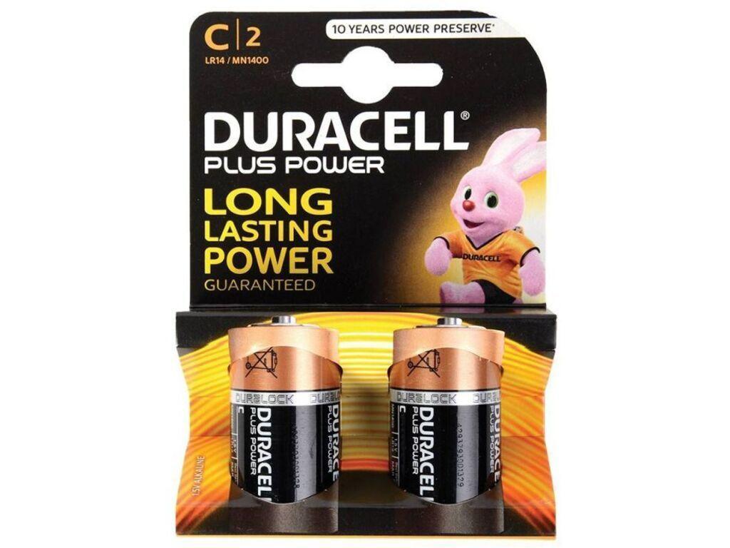 Батарейки DURACELL LR14 BASIC С (2 шт/уп)