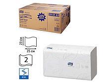 "Полотенца бумажные Tork ""Premium"", 2-х слойные, 200 листов 23х25 см,  ZZ, белые"