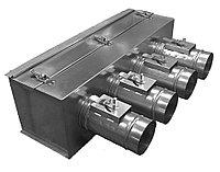 Пленум короб (адаптер бокс ) для канальных кондиционеров со встроенными клапанами регулировки воздуха.