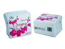 """Салфетки Маолин """"Орхидея"""", 1-слойные, 100 штук в упаковке., белые"""