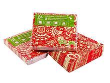 """Салфетки Маолин """"Красный Узор"""" для сервировки, 3-слойные, 20 штук в упаковке"""
