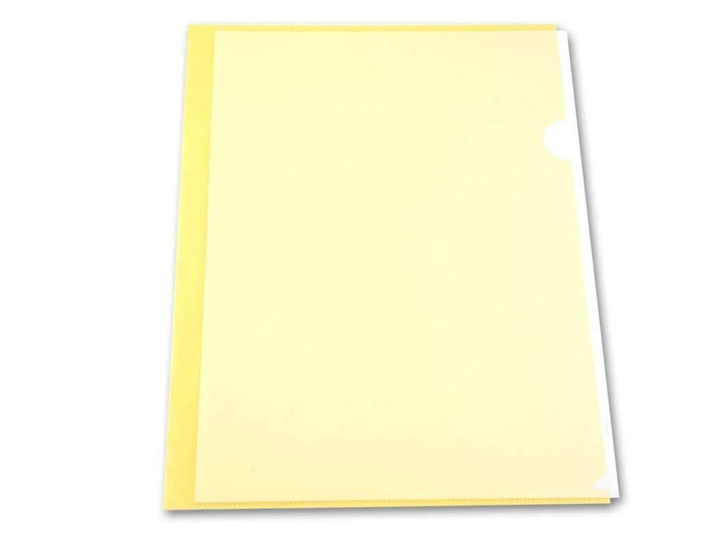 Папка-уголок  БЮРОКРАТ, А4, 150 мкм, гладь желтый