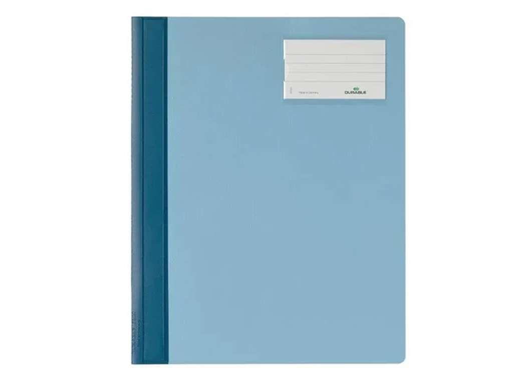 Папка-скоросшиватель DURABLE, А4+, карман для визитки, голубой