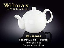 "Чайник заварочный ""Wilmax"", 1100 мл, фарфор, белый"