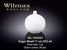 "Сахарница ""Wilmax"" 325 мл, фарфор, белая"