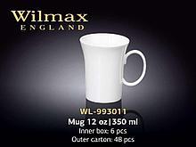 """Кружка """"Wilmax"""", 350 мл., фарфор, белая"""
