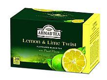 Чай AHMAD Lemon Tea & Lime Twist (лимон и лайм), черный 20 пакетиков