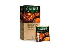 Чай Greenfield Christmas Mystery черный с корицей, 25 пакетиков