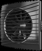 Вентилятор осевой вытяжной с обратным клапаном SILENT 4C Obsidian d100 Эра Декоративный