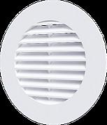 Решетка вентиляционная круглая d145 с фланцем d100 Эра