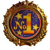 """Сувенирная медаль на ленте """"№1"""""""