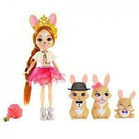 Enchantimals Семья Кроликов с куклой Бристел Brystal & Bunny Family Enchantimals Royals