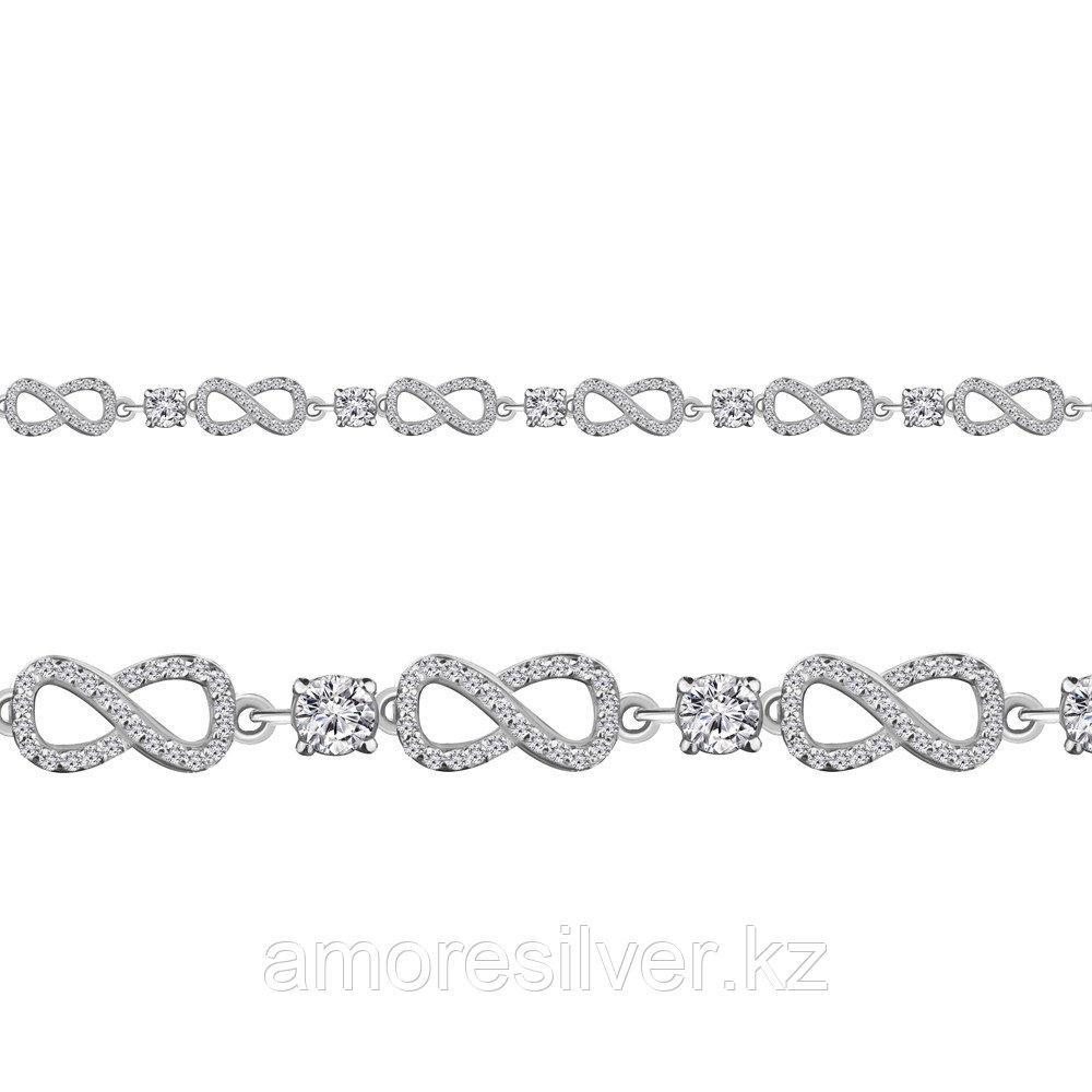 Браслет AQUAMARIN серебро с родием, фианит 71842А.5 размеры - 17