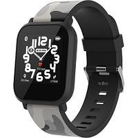 Teenager smart watch, 1.3 inches IPS full touch screen, black plastic body, IP68 waterproof, BT5.0,