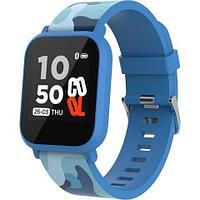 Teenager smart watch, 1.3 inches IPS full touch screen, blue plastic body, IP68 waterproof, BT5.0, multi-sport