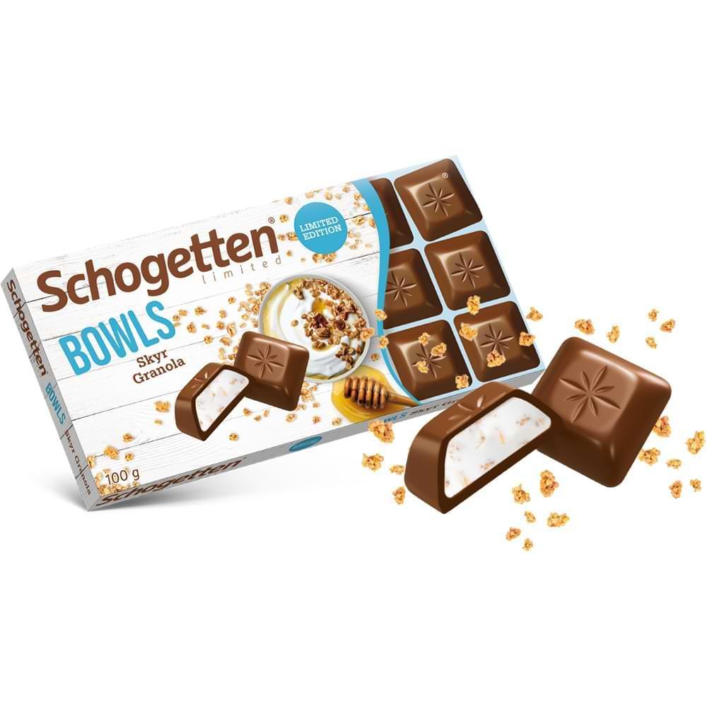 Молочный шоколад Schogetten BOWLS Granola & Cream 100гр (15 шт. в упаковке)