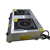 Плита индукционная электрическая настольная Вок, мощность 5+5 кВт