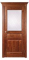 Дверь межкомнатная VILARIO Стекло Валенсия Античный Орех