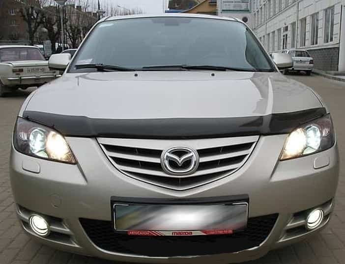 Дефлектор капота Mazda 3 (2005-2008)/Axela, Sd (2003-2008)