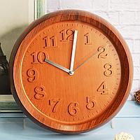 Настенные часы Quartz 3 700 диаметр 31 коричневые